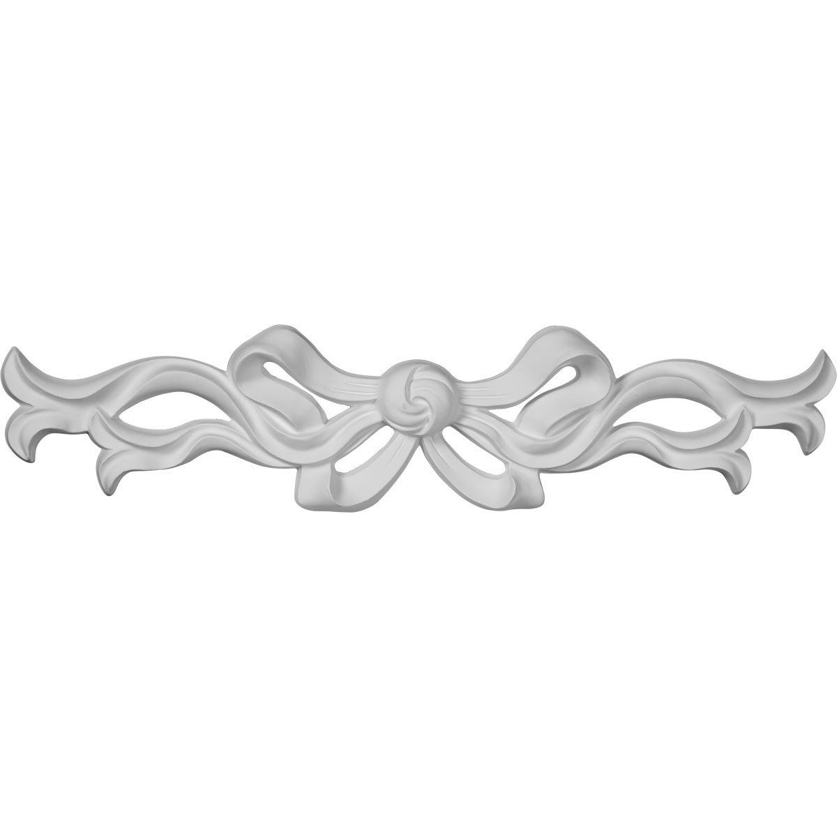 Ekena Millwork ONL13X03X01VE 13-Inch W X 3-Inch H X 3/4-Inch P Versailles Medium Ribbon with Bow Center Onlay