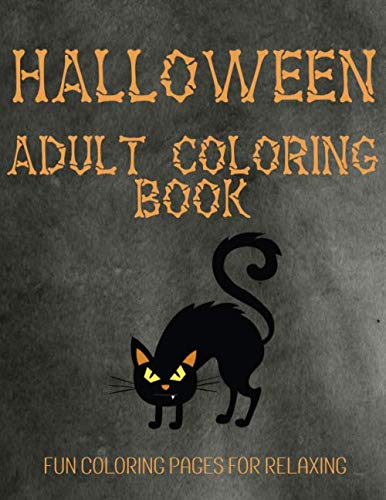 Halloween Coloring Pages Spiders (Halloween Adult Coloring Book: Fun Fall Coloring Pages For)