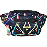 Patchwork Fanny Pack, Colorful Boho Chic Handmade w/Hidden Pocket (The Funky Trinity)