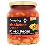 6X Clearspring Demeter Organic Baked Beans Unsweetened 350g