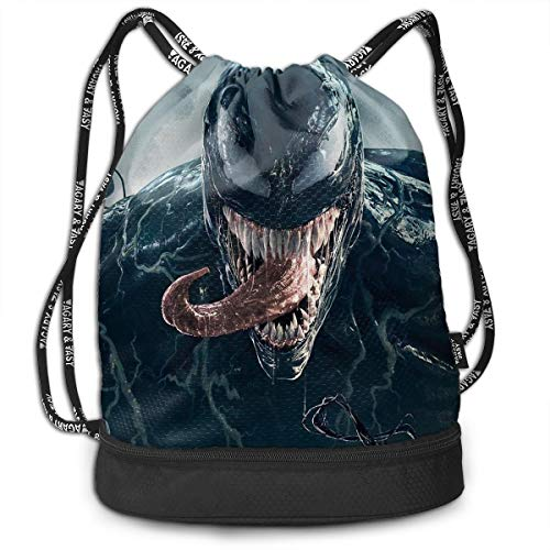 - Men&Women Venom Gym Bag Lightweight Drawstring Backpack Hiking Travel Beach Yoga Running Sport Bookbag