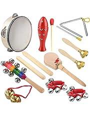 Wooden Musical Instrument Set 14 PCS | Rhythm & Music Education Toys for Kids