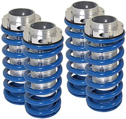 Blue w//Silver Sleeve Fit Honda Civic//Accord//Acura Integra Adjustable Coilover Lowering Spring Scale