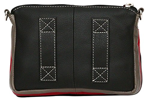 Felda Body Adjustable Ladies Shoulder Strap Black Bum Leather Cross Bag Genuine I4OqI
