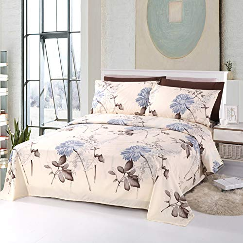Aurora Collection Microfiber Soft Bed Sheets Printed 6 Piece Sheet Set - 16