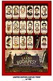 RARE POSTER thick tilda swinton THE GRAND BUDAPEST HOTEL ralph fiennes 2014 movie REPRINT #'d/100!! 12x18