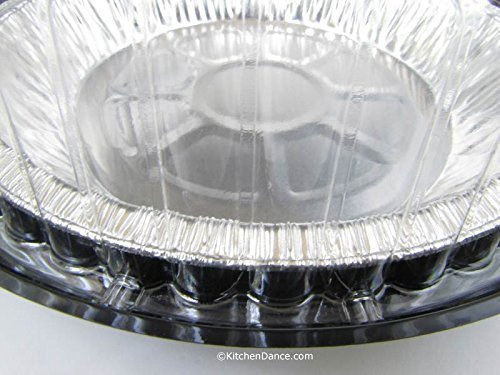 9 Inch High Dome Plastic Disposable/Reusable Pie Carrier #WJ43 (160)