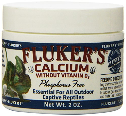 (Fluker Labs SFK73015 Reptile Calcium Supplement without Vitamin D3, 2-Ounce)