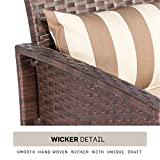 SOLAURA Outdoor Furniture Couch Brown Wicker