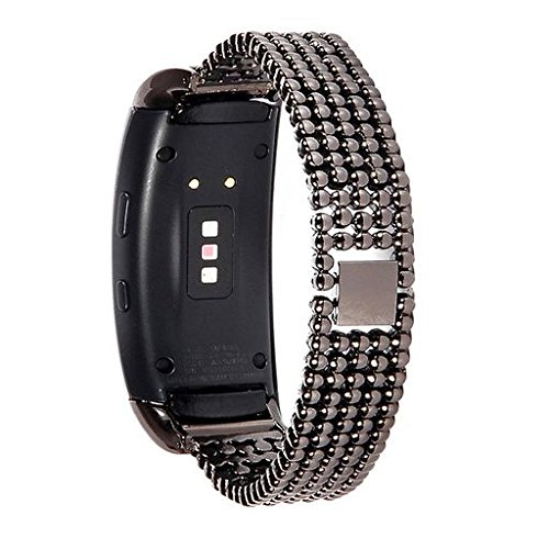 Buckle Bracelet Hook (Oucan For Samsung Gear Fit2 Pro, Loop Stainless Steel Watch Band Smart Strap Mesh Accessory Band Watch with Hook Buckle Replacement Wristbands Bracelets)