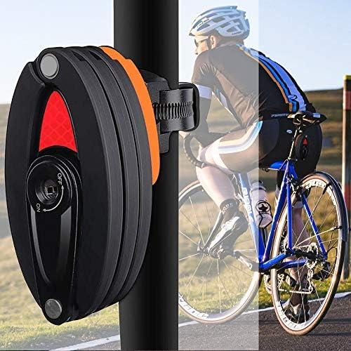 Fahrradschloss 120cm mit 2 Schlüssel und Halter in verschiedenen Farben Motorrad