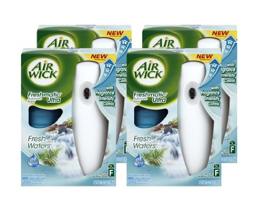 Freshwater Systems (Air Wick Freshmatic Ultra Automatic Air Freshener System Starter Kit, Fresh Waters (Case of 4))