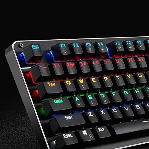 Backlit Notebook Desktop Computer Wired Keyboard//E-Sports Game Internet Cafe 104 Key Keyboard Keyboard Mechanical Gaming Keyboard Jiu Si