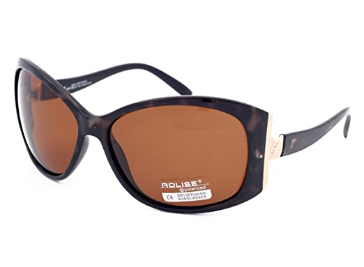 7b275a997f45 AOLISE Polarized Sunglasses for Women Ladies Driving Light Amber Lenses  Turtle Shell Frame Anti Glare Lenses Filter Category 3  Amazon.co.uk   Clothing