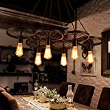 RLYYBE Ceiling Lamp Modern and Vintage Industrial Rustic LED Ceiling Light with Iron Shade for Kitchen,Bedroom Living Room Hallway,Bar,Coffee House,Dining Room and Studying Room 900mm*500mm*1000mm