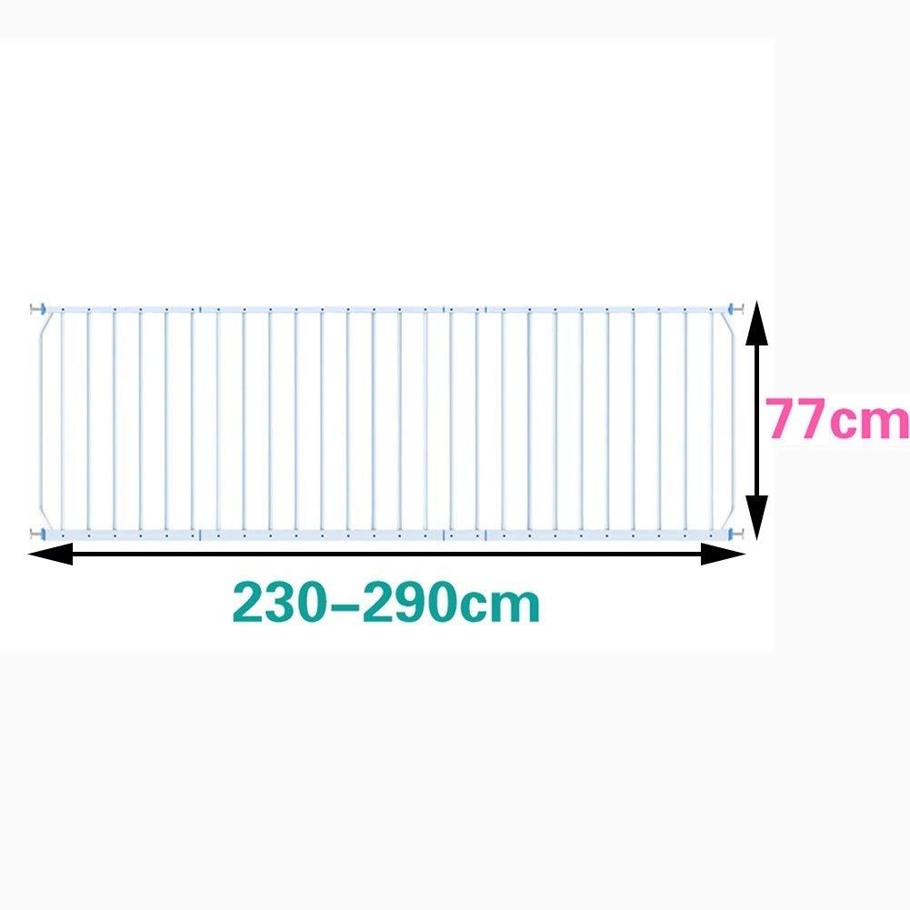 ベビー/幼児/子供/子供用横型または縦型セキュリティグリルの内側窓バルコニーガード、ホワイト、メタル、30インチ(77cm) (Size : 91