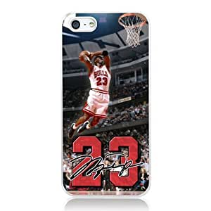 NBA Great Legendary Basketball Star Michael Jordan for iphone 5 5s Case Cover phone Plastic Transparent hard shell case Nice packaging By LINDAS