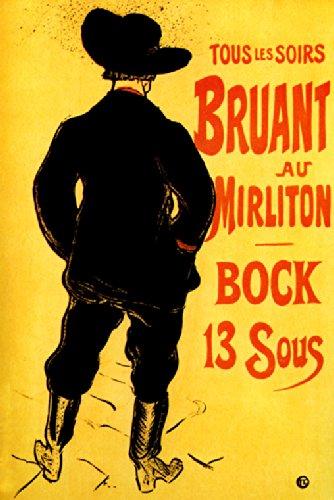 Amazon.com: BRUANT AU MIRLITON 1894 FRENCH CABARET SINGER ...