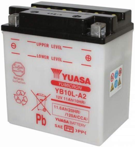 YUASA BATERIA YB10L-A2 abierto - sin ácido