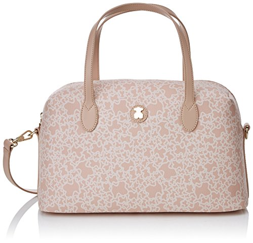 Tous Bowling Mediano Kaos Mini, Bolso Bolera para Mujer, 13x20x35 cm (W x H x L) Beige (Rosa)