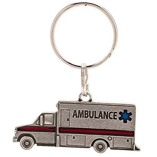- DANFORTH - Ambulance Keyring - Pewter - Key Fob - Handcrafted - Made in USA