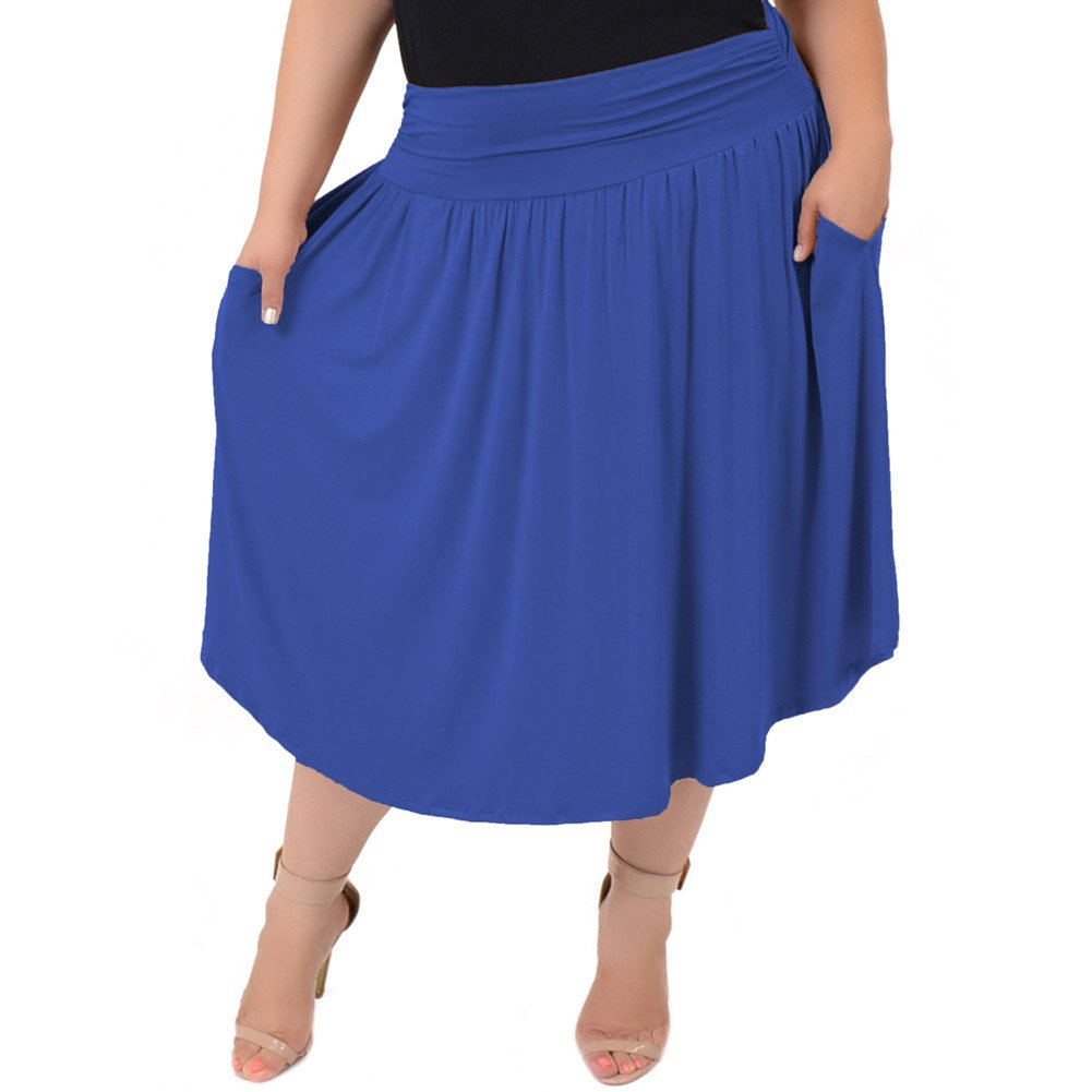 Stretch is Comfort Women's Pocket Skirt Light Navy X-Large by Stretch is Comfort