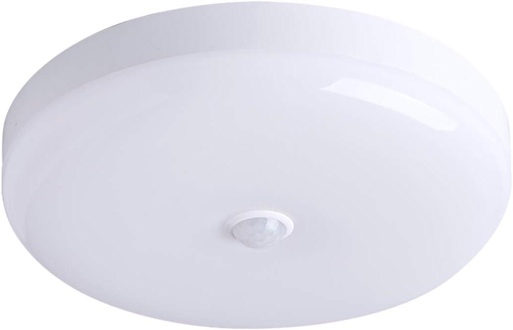 Oficina Porche Garaje /Ø25Cm Combuh LED L/ámpara de Techo con Sensor de Movimiento 30W Impermeable IP56 Blanco Fr/ío 6000K 2400Lm F/ácil de Instalar Plafon LED para Cocina Ba/ño