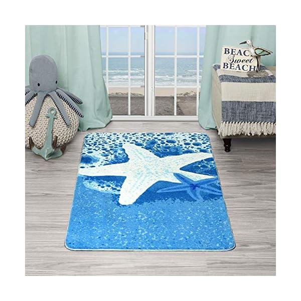 Evolur Home Star Fish Nursery Bedroom/Livingroom/BabyPlaymat/ChildrensRug/PlayRug/KidsRug/Floormat Rug 55'x31.5'