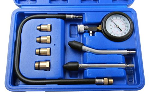BERGEN 8 Piece Compression Tester + Quick Disconnect for Petrol Engines BER5255