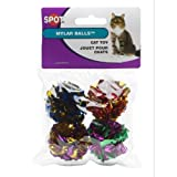 Ethical 1-1/2-Inch Mylar Balls Cat Toys, 4-Pack