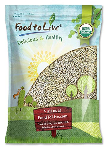 Organic Sprouted Sunflower Seeds, 16 Pounds — Non-GMO, Kosher, No Shell, Unsalted, Raw Kernels, Vegan Superfood, Bulk