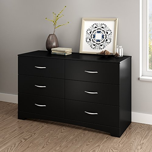 South Shore Step One Dresser, Pure Black