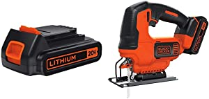 BLACK+DECKER LBXR20 20-Volt MAX Extended Run Time Lithium-Ion Cordless To with BLACK+DECKER BDCJS20C 20V MAX JigSaw with Battery and Charger