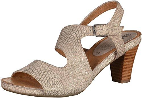 Ara 12-34658 Rosso mujer sandalia de tacón alto Beige