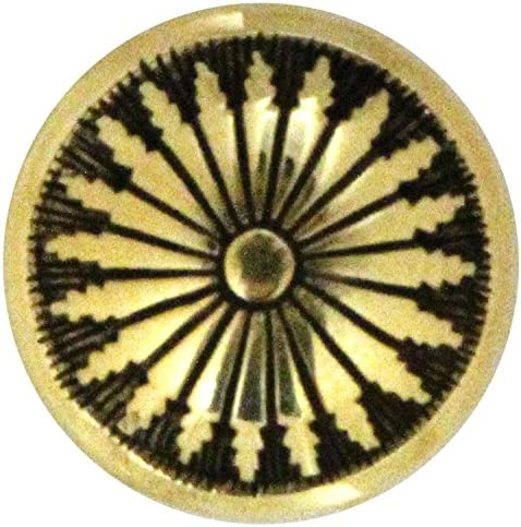 協進エル 附属金具 デザインコンチョ 19mm ニッケル 1170209-01