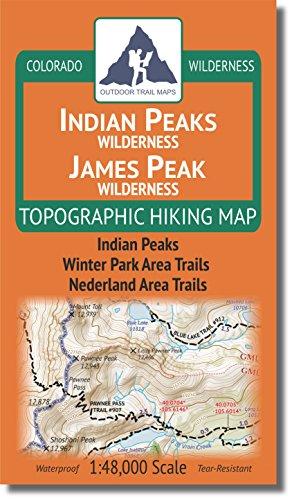 Indian Peaks - James Peak Wilderness - Colorado Topographic Hiking Map (2018)