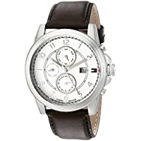 Tommy Hilfiger Men's Stainless Steel Watch with Leather Band