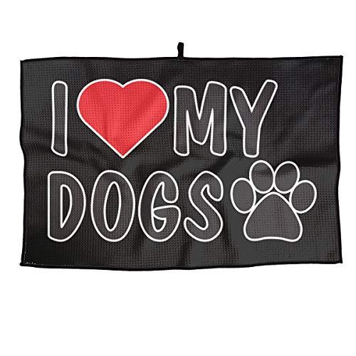 BHSBC.L I Love My Dogs Breathable Golf Towel Quick Dry Microfiber Towel Sports Towel 15