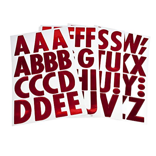 - Homeford Big Font Alphabet Letter Stickers, Caps, 3-Inch, 26-Count (Metallic Red)
