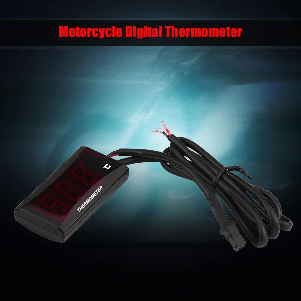 Motorrad Thermometer Universal Motorrad Digital Thermometer Wassertemperaturanzeige Meter f/ür Die meisten Motorr/äder CBR250RR CB400 CBR600RR CBR1000RR R1 R6 MT-07 MT-09 DUKE 250 390 1190 1290 Rote