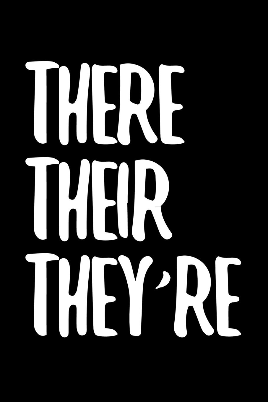 Download There Their They're: 6 x 9 Wide Ruled Paper Notebook, Appreciation, Quote Journal or Diary ~ Unique Inspirational Composition Book Gift for Boys, ... Gag or Gratitude Present - Black Cover ebook