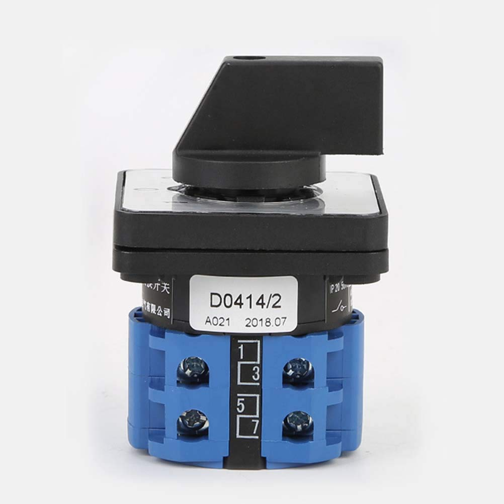 Azul Hemobllo Interruptor de Cambio de 220V 20A Interruptor de Encendido de selecci/ón giratoria de 3 Posiciones