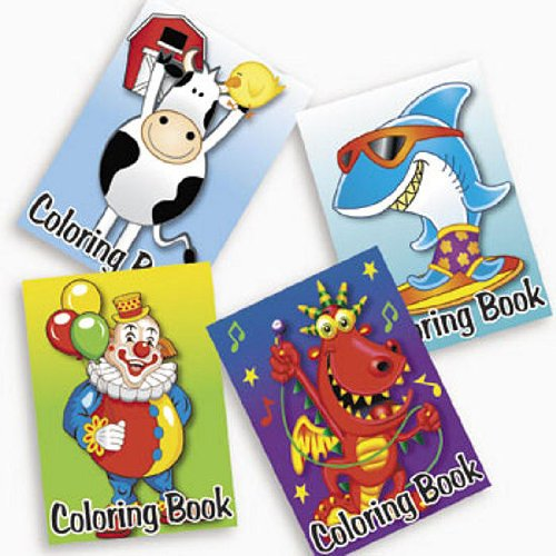72 pack Coloring Favors Assorted Designs