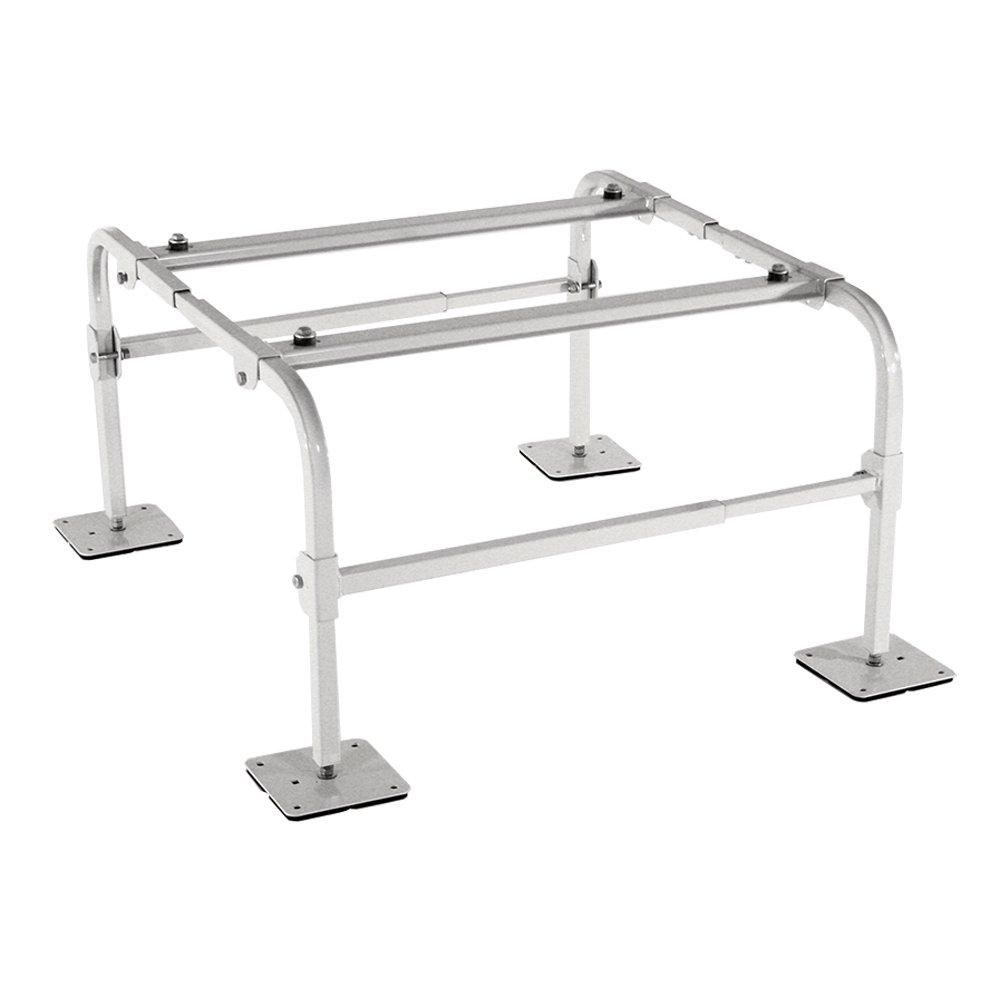 40 Length Steel Maximum Capacity Fits All Mini Split Brands on The Market 400 lb Quick-Sling QSMS2400 Thin Mini Split Stand 14 Gauge Square Steel Tubing 24 Height