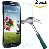 TANTEK Tempered Glass Screen Protector for Samsung Galaxy S4 - 2 Pack
