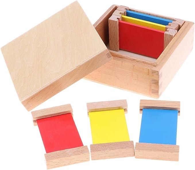 Sharplace Juguete Montessori Infantil Caja de Colores Primarios Juego Cognitivo para Niños: Amazon.es: Juguetes y juegos