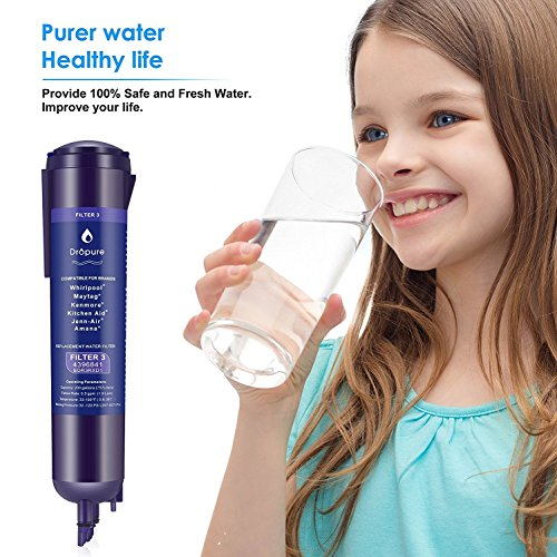 4396841 Refrigerator Water Filter 3 for 4396710, 4396841, EDR3RX1 Filter 3, Pur Water, Kenmore 9030 Water Filter - 1PCS by Dropure (Image #4)