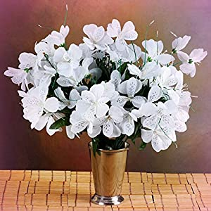 Inna-Wholesale Art Crafts New 6 White Bushes Silk Mini PRIMROSES Decorating Flowers Bouquets Decorations Sale - Perfect for Any Wedding, Special Occasion or Home Office D?cor 7