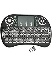 ghfcffdghrdshdfh I8 Handheld Touch Panel Tricolor Backlight Keyboard Mini Wireless Keyboard