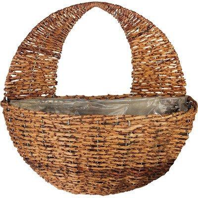 Gardman R496 Rustic Rattan Hanging Wall Basket, 16'' Wide x 9'' Deep